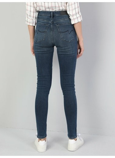 Colin's 760 Dıana Yüksek Bel Dar Paça Super Slim Fit Koyu Mavi Kadın Jean Pantolon İndigo